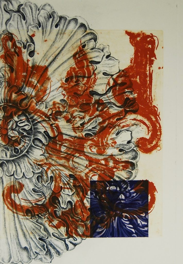 """Katherine Baca-Bielinis """"Corrosion"""" etching, lithograph 17.5"""" x 12"""""""