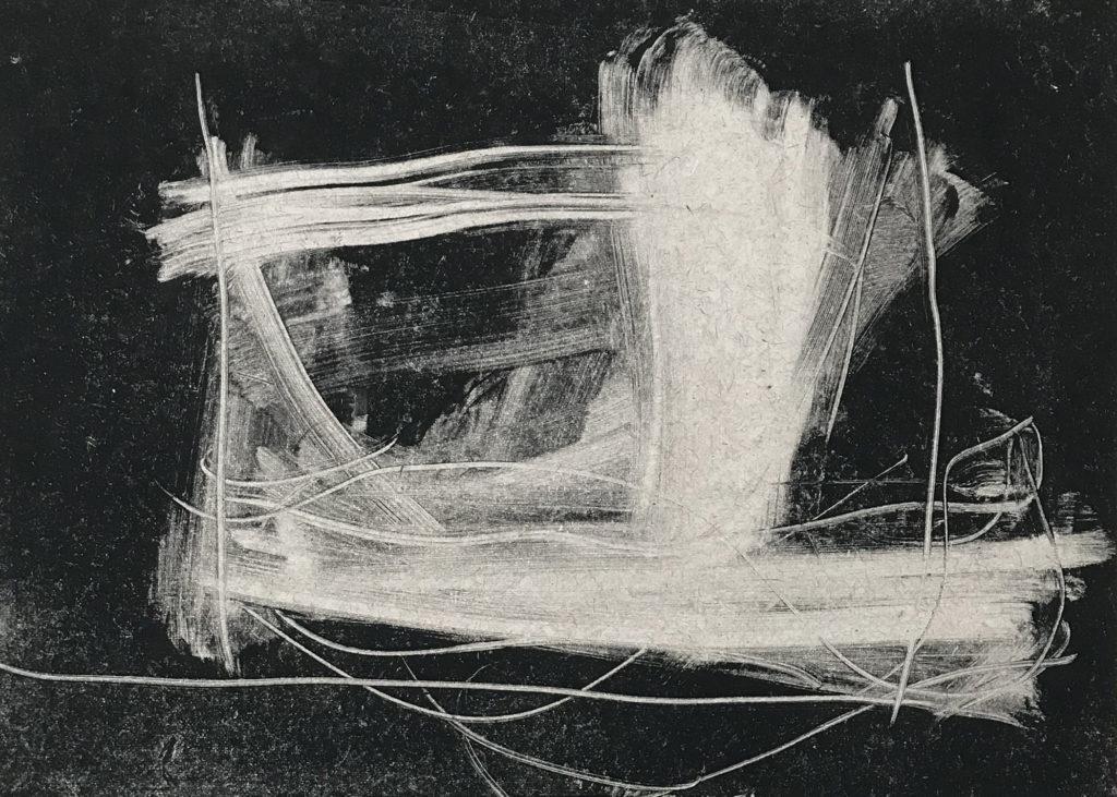"Sandra Beard ""Ghost Ship"" monotype 10"" x 14"""