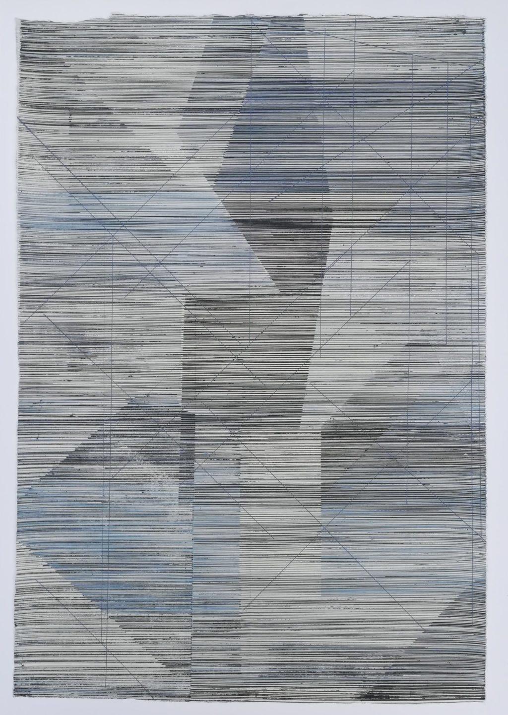 Babette Cooijmans 'Cityscapes 0 no.4' lithography & silkscreen monoprint 17,25 x 25 2019