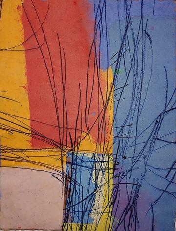 "Betty Friedman ""Untitled #239"" intaglio on handmade paper 14.5"" x 11"" 2019"