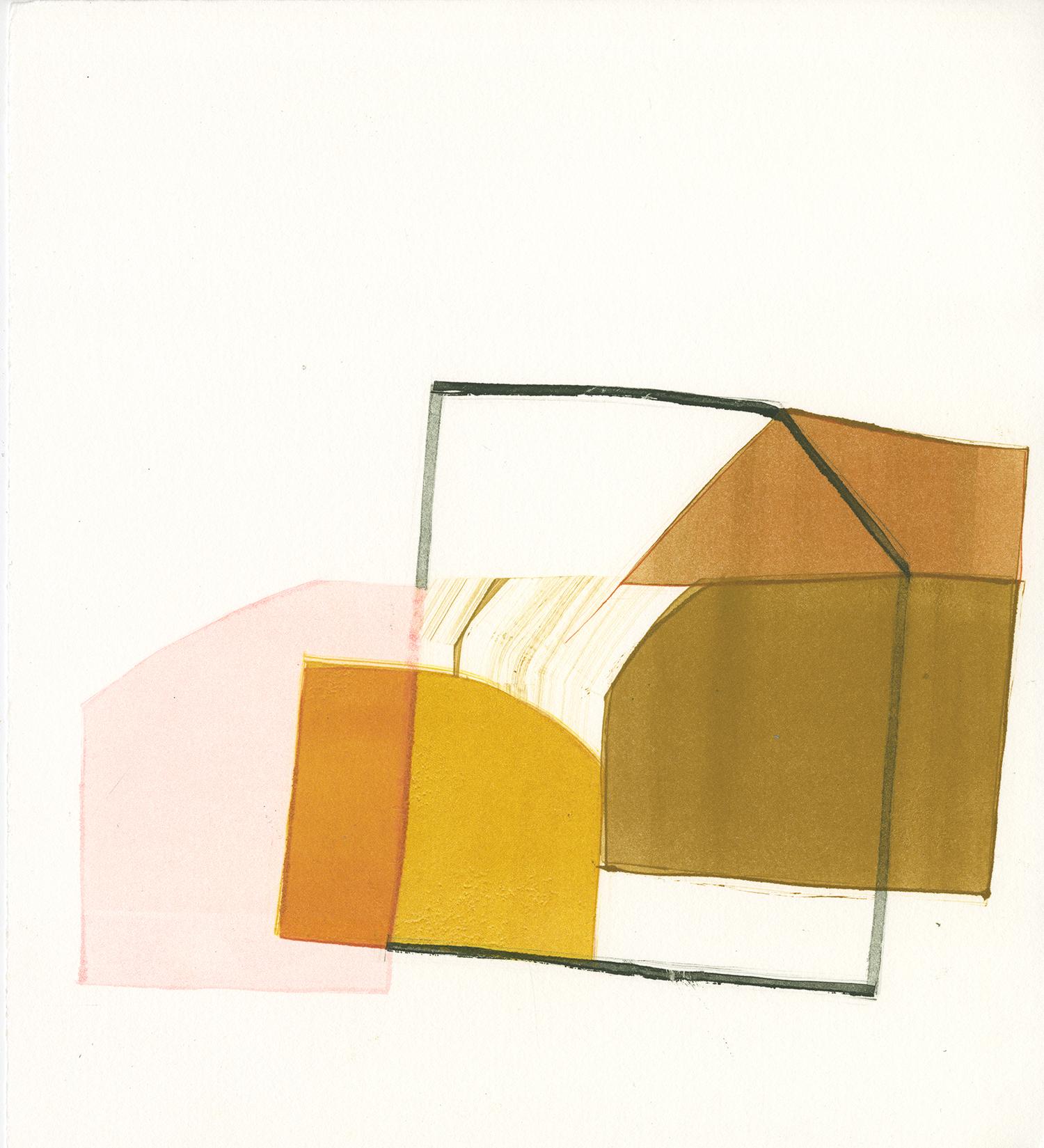 "Corrine Hatt ""Untitled"" monotype 11"" x 10"" 2019"