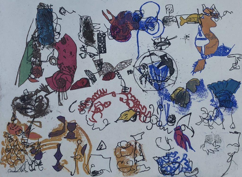 "Gail Jacobs ""Air Mail"" etching, aquatint, soft ground 11"" x 14"" 2017"