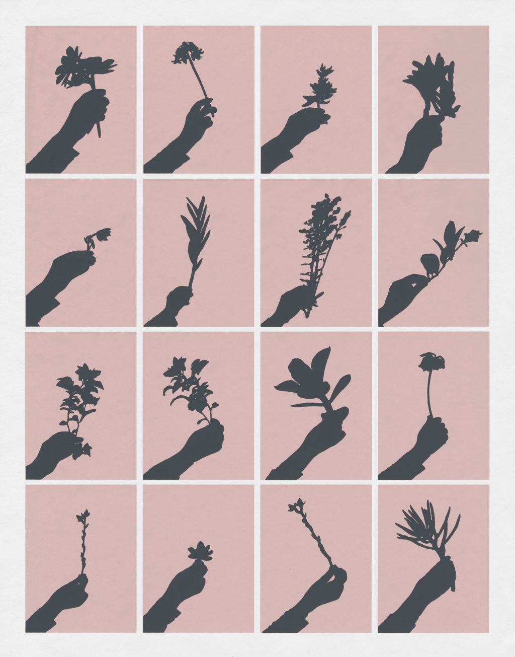 "Sarah Klein ""Late Day Bouquet"" screenprint 15.75"" x 12.5"" 2019"
