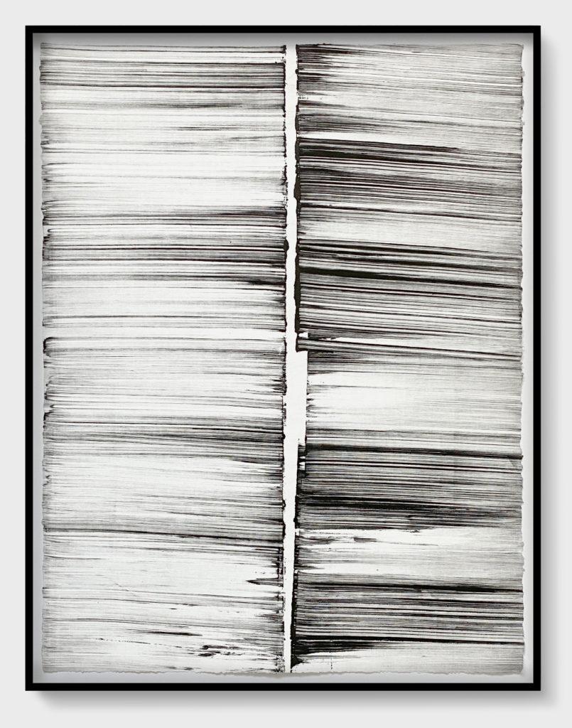 "Lian Ng ""Reflections 1"" monotype 30"" x 22.5"" 2020"