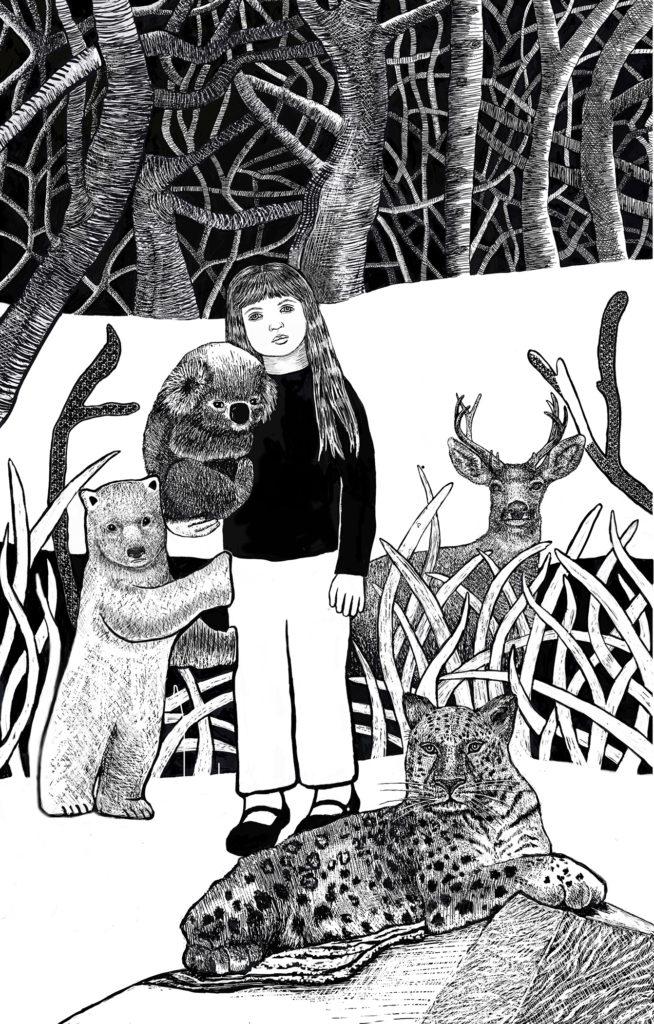 "Susan Silvester ""Nurturing"" polyester plate lithograph 8"" x 12"" (framed) 2020"