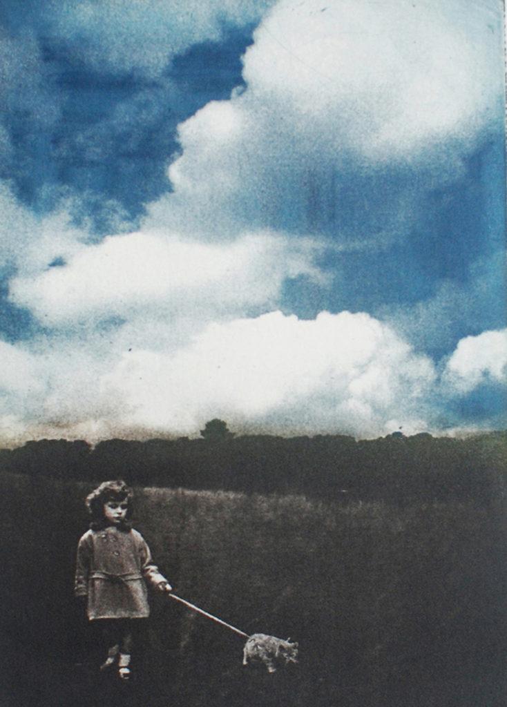 "Monica Wiesblott ""She was the Storm"" photopolymer etching 6.75"" x 4.75"" 2018"