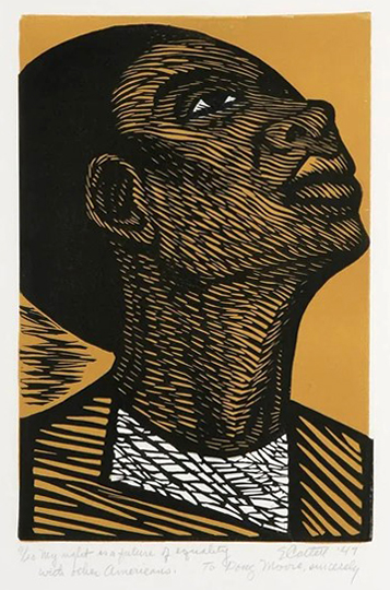 Elizabeth Catlett, My right is a future of equality with other Americans