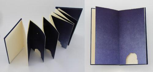 Rhiannon Alpers, Whispering Stones, Artist's Book, 9 x 5 x .5 in, 2021