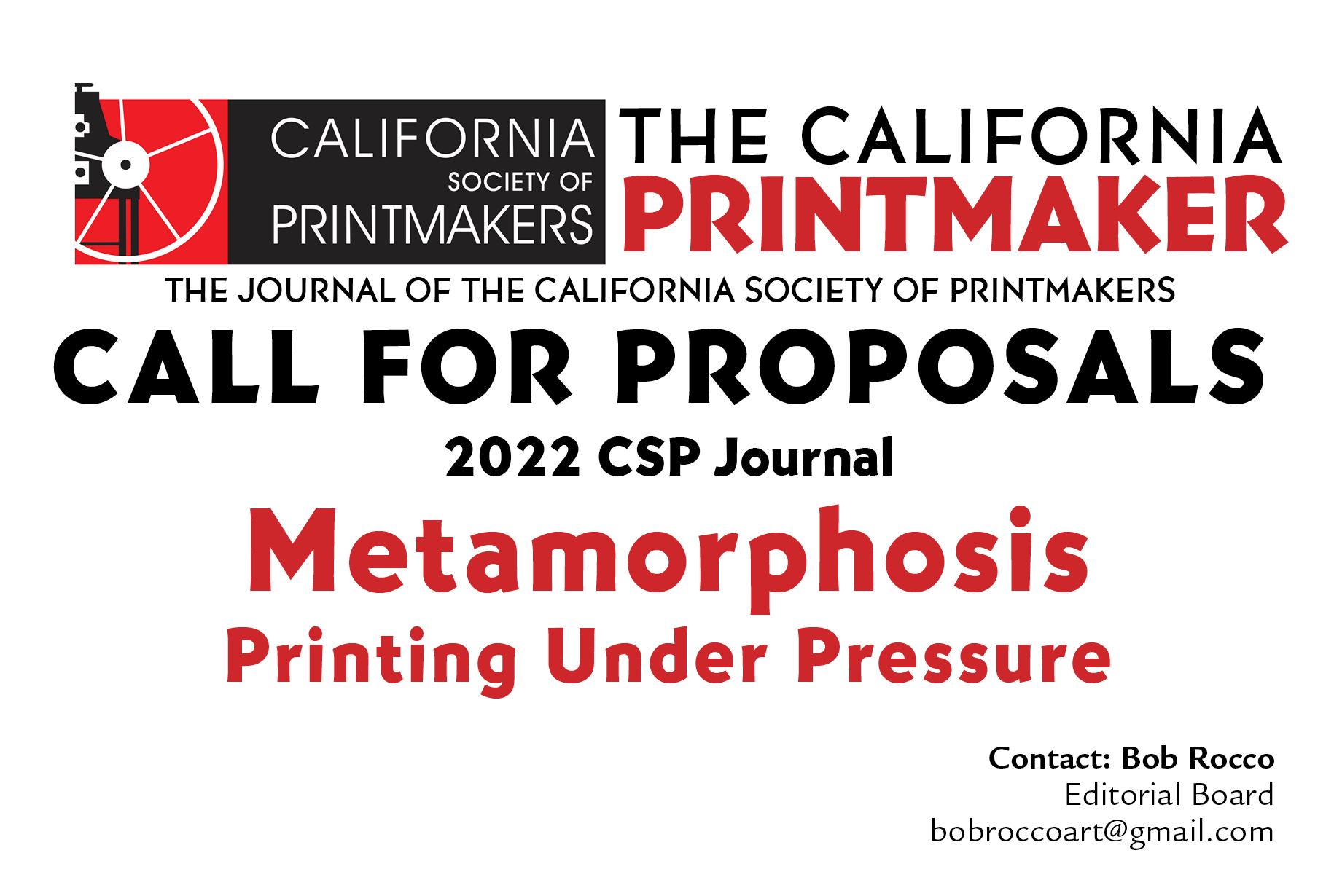 The California Printmaker cfp 2022